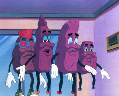 even though they were such a huge sensation the campaign came to a quick conclusion for a super strange reason apparently the california raisin advisory - California Raisin Halloween Costume