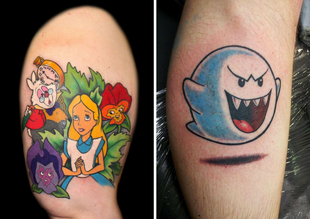 15 Tattoos Of Cartoon Characters That Will Make You Want To Get Your Own