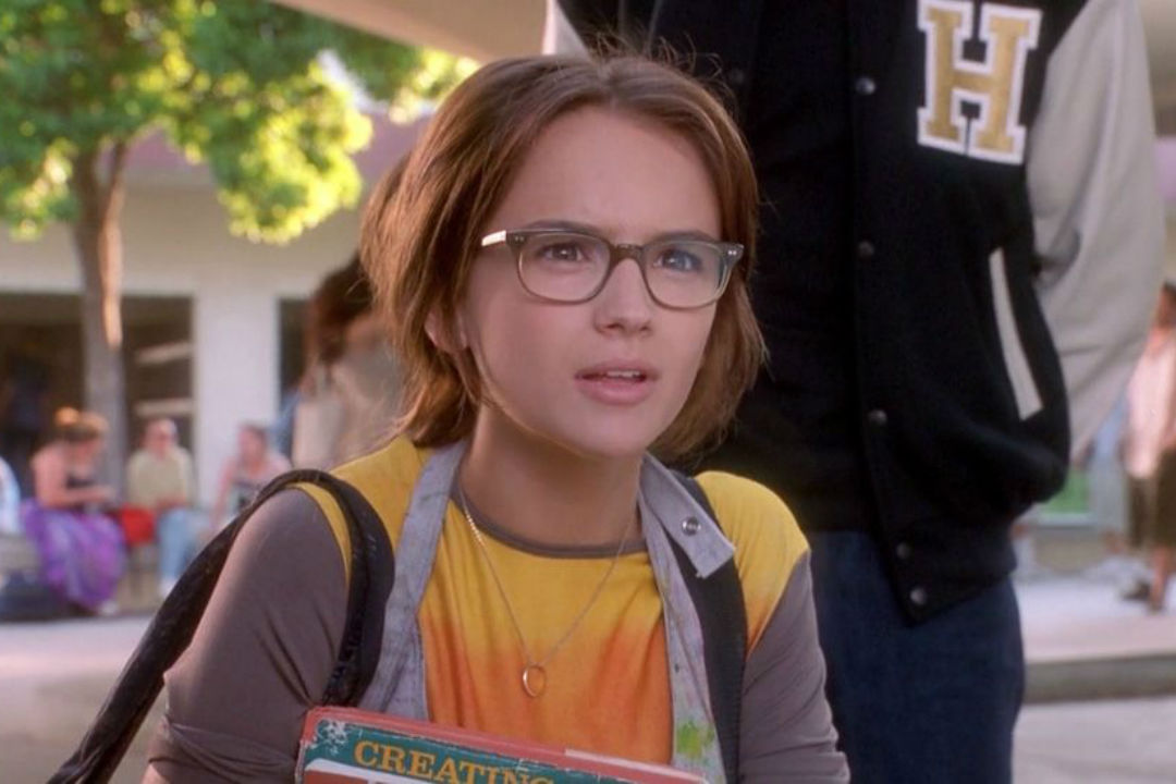 Cute Nerdy Girl With Glasses