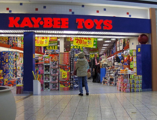 Mall storefront of Kay-Bee Toys
