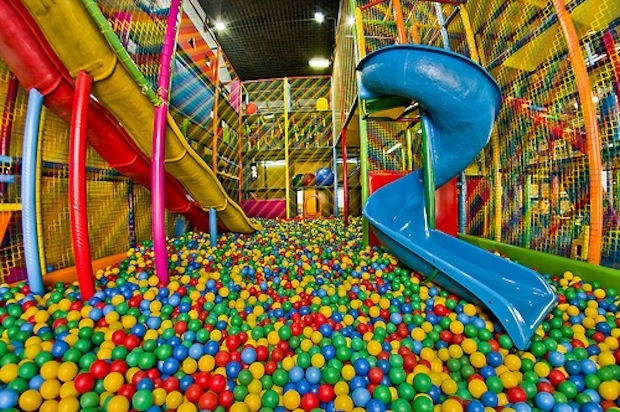 Discovery Zone ball pit and slides