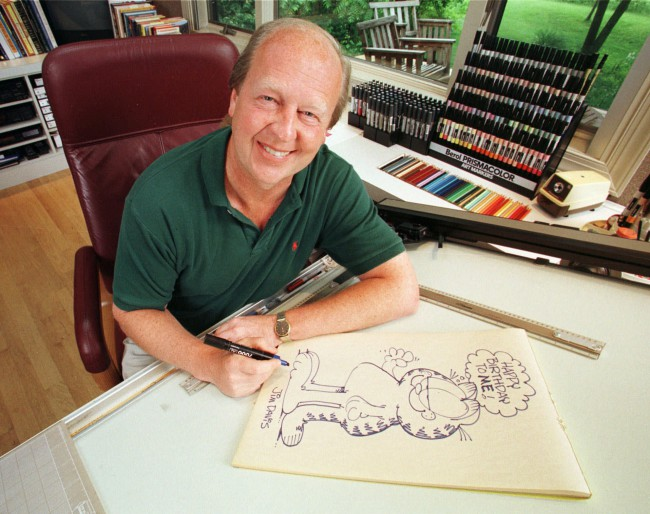 Jim David drawing Garfield