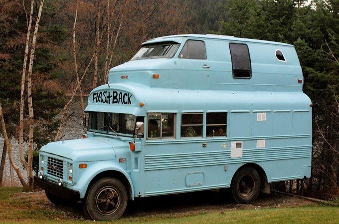 This 70s RV Bus Makes Going To School Seem Fun