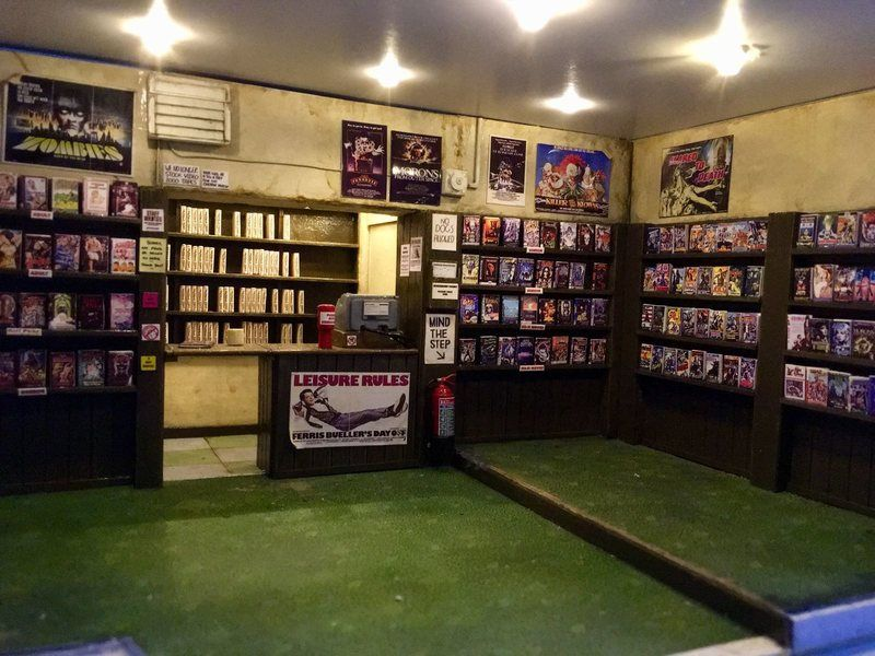 Mini video rental store