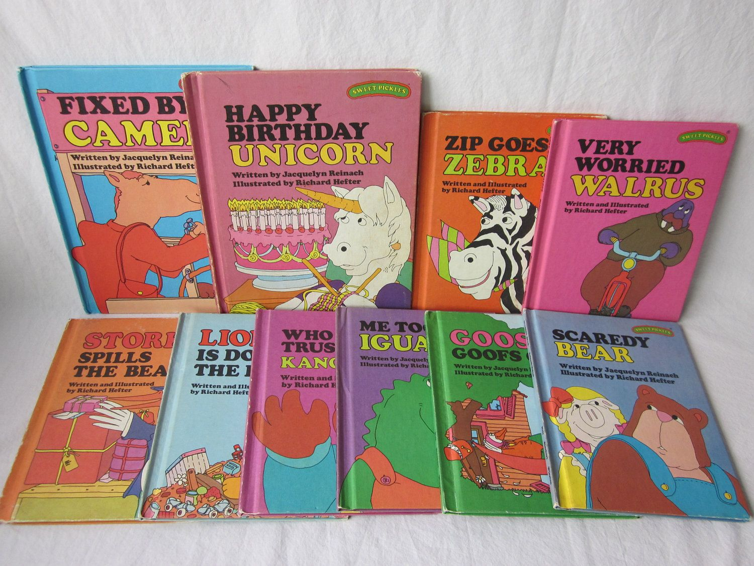 Several different Sweet Pickles books