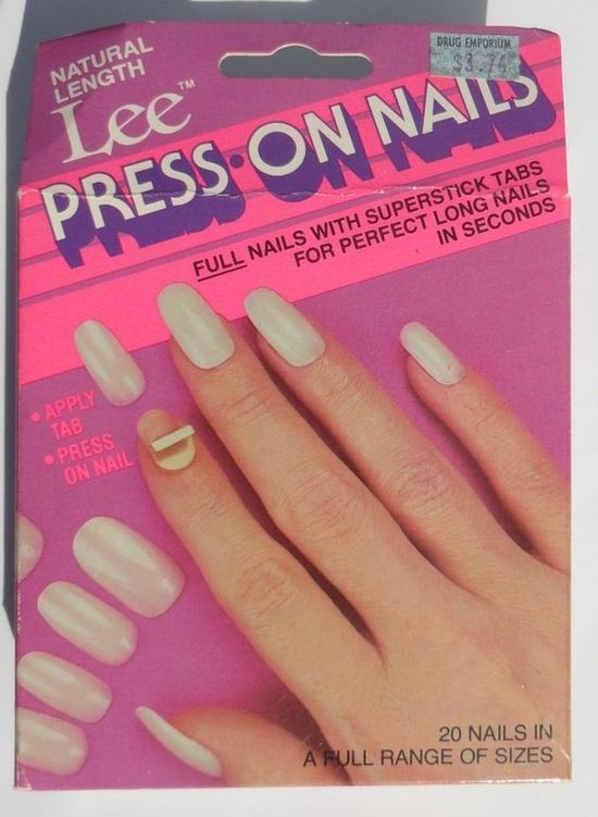 Box of Lee Press On Nails