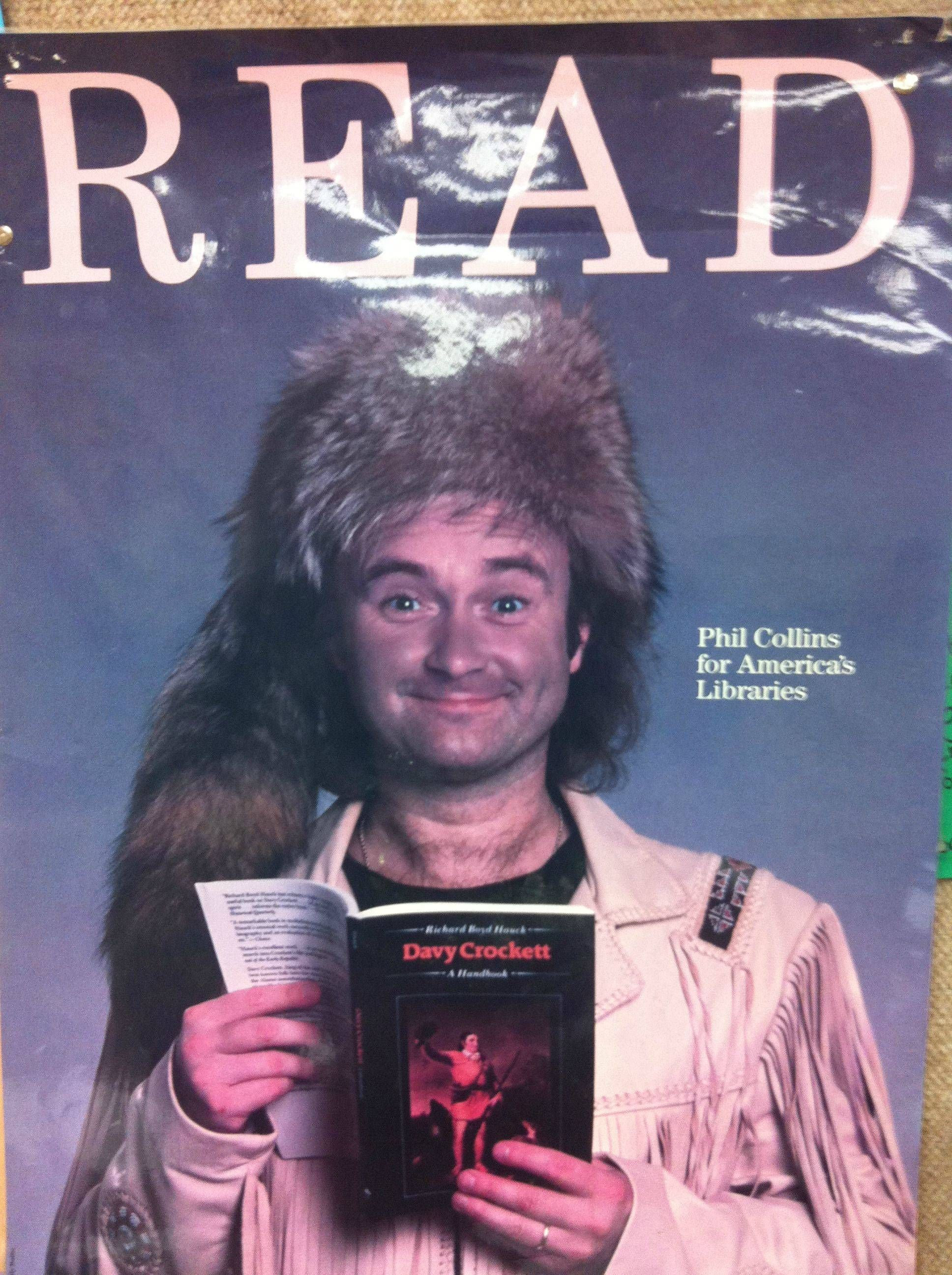 ALA READ poster featuring Phil Collins