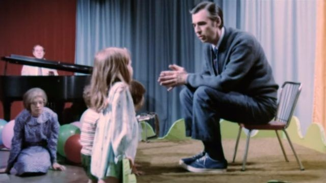Mr. Rogers with fan