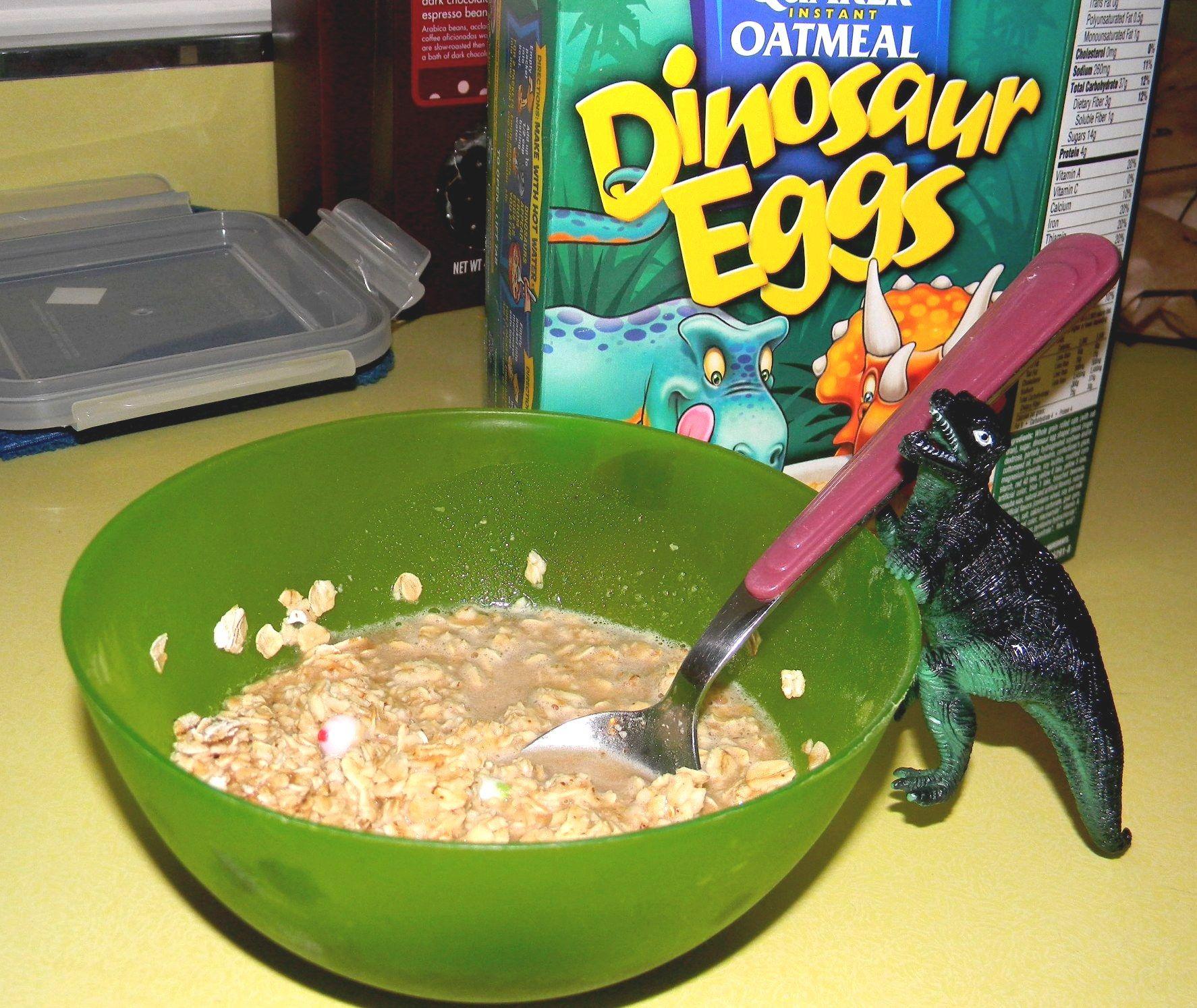 Dinosaur Eggs Oatmeal
