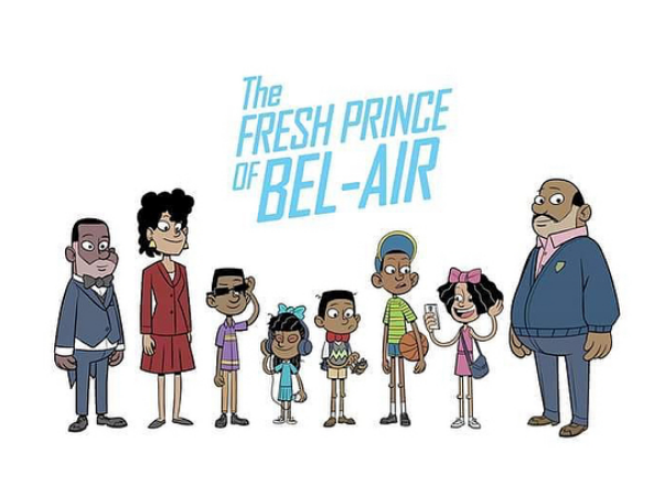 "Cartoon cast of ""Fresh Prince"""
