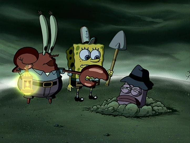 Spongebob hides a body