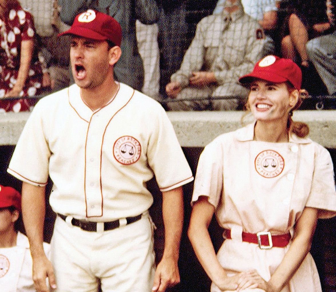 A League Of Their Own Tom Hanks Geena Davis