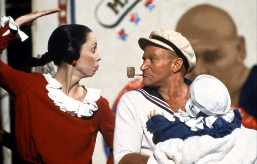 Shelley Duvall and Robin Williams Popeye