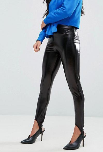 Leather Stirrup Legging