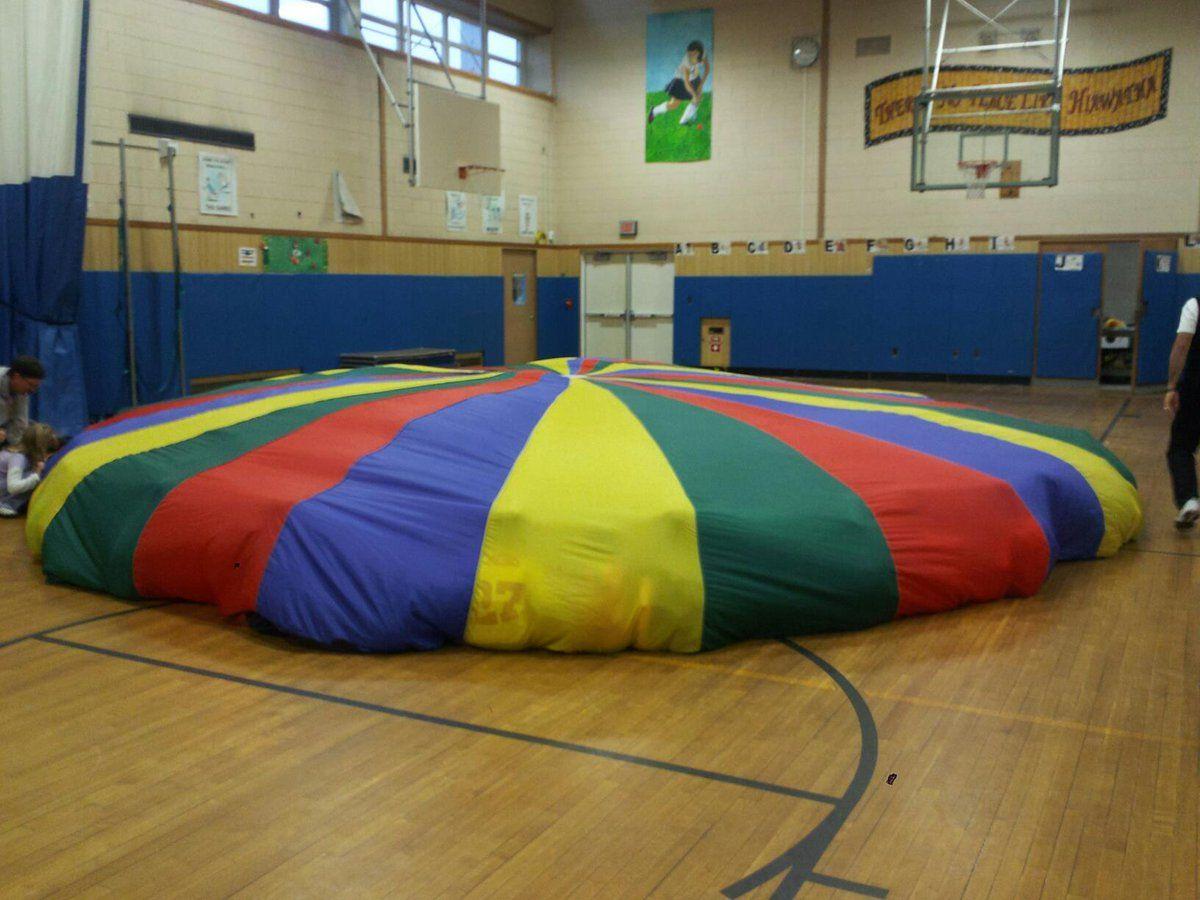 Parachute gym class