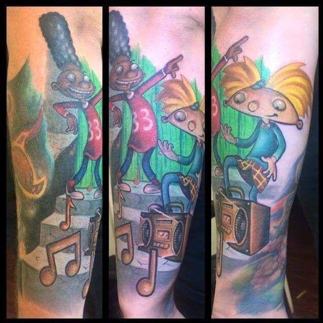 Hey Arnold Tattoo
