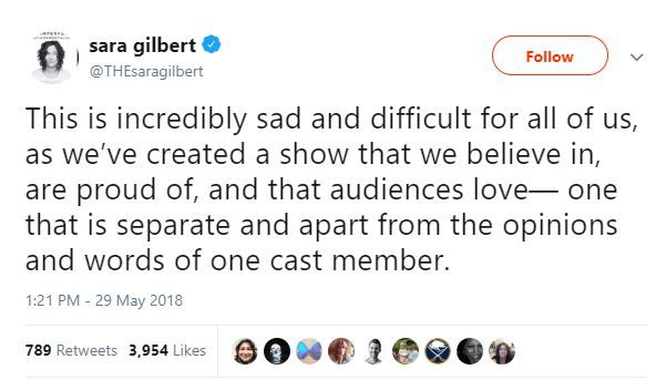 Sara Gilbert Tweet