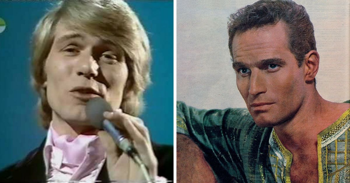Adam Faith and Charlton Heston