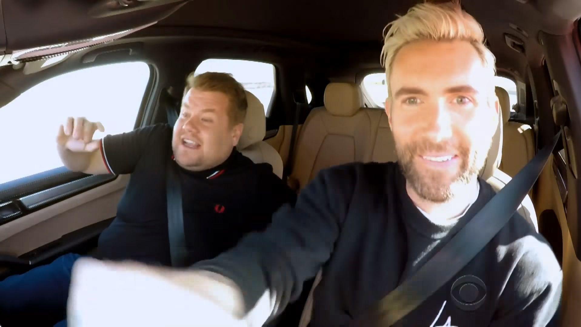 James Cordon isn't a fan of Adam Levine's driving