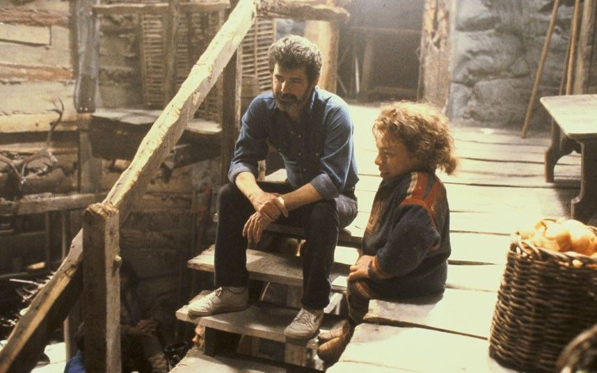 Warwick Davis and George Lucas