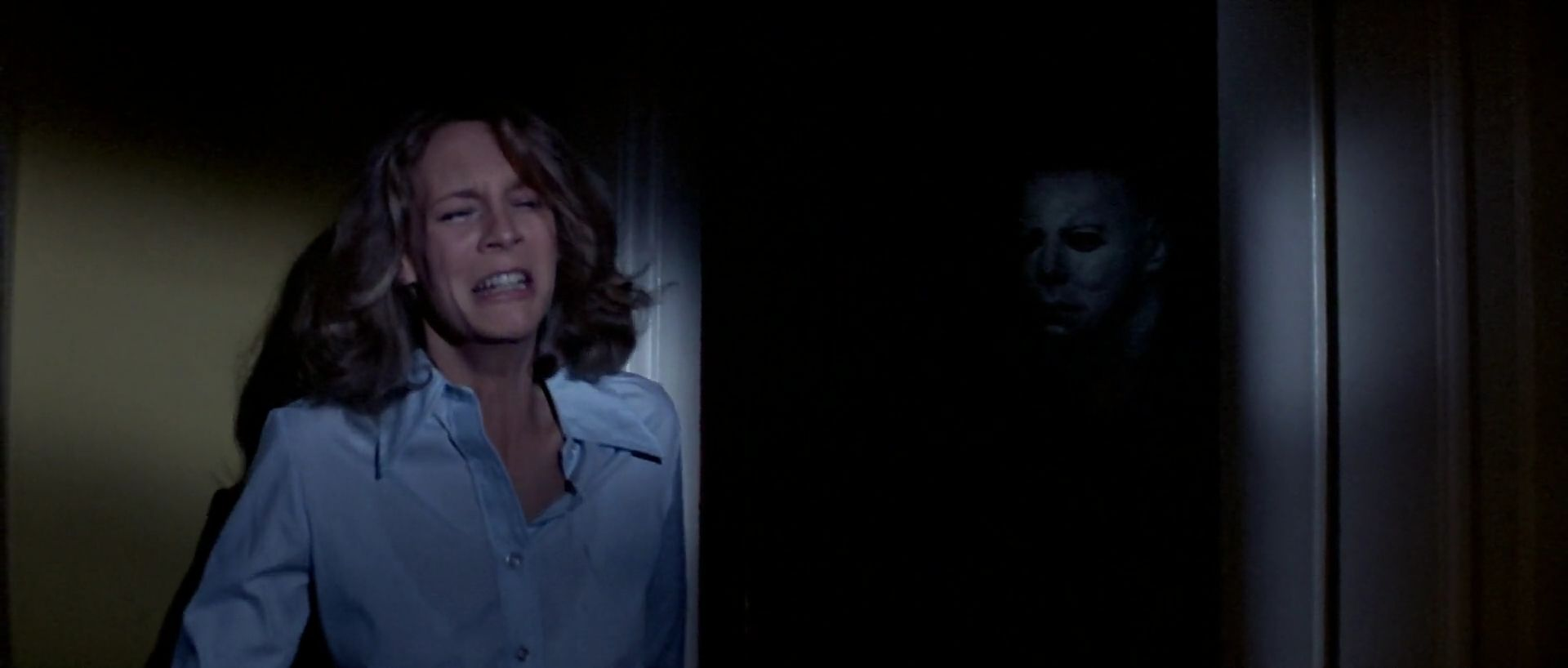 Laurie Strode and Michael Myers in 1978's Halloween