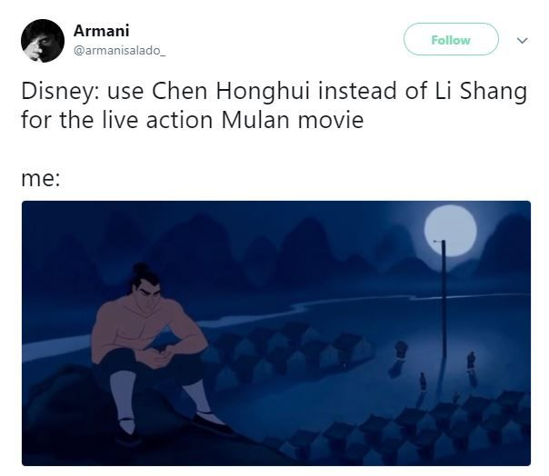 Mulan tweets