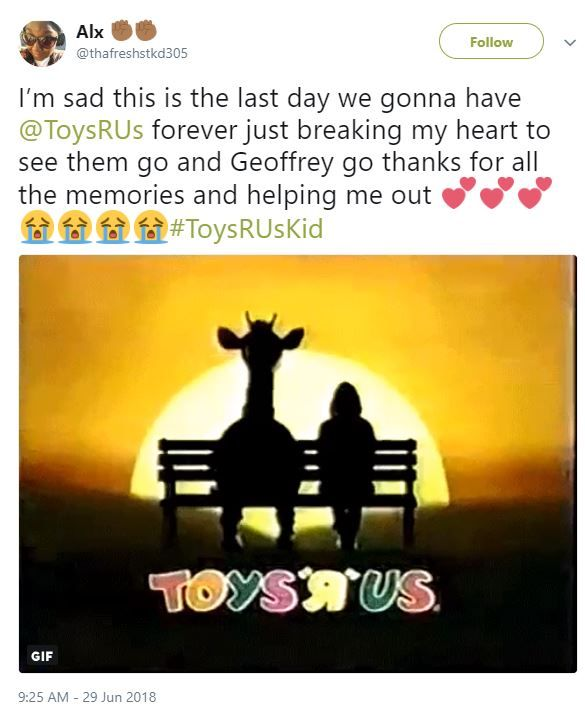 Toys R us tweets