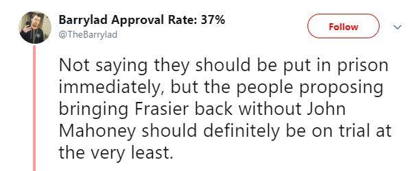 Fraiser tweets