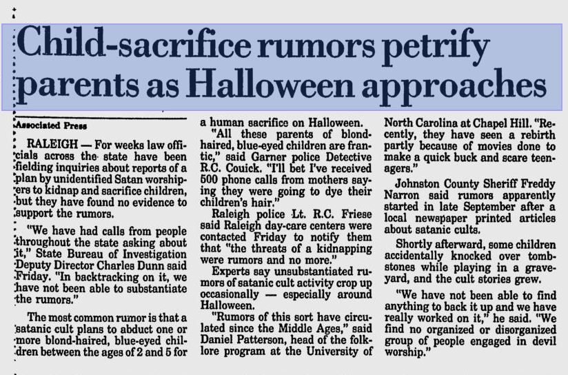 North Carolina Halloween