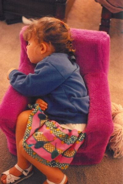 90s fuzzy chair