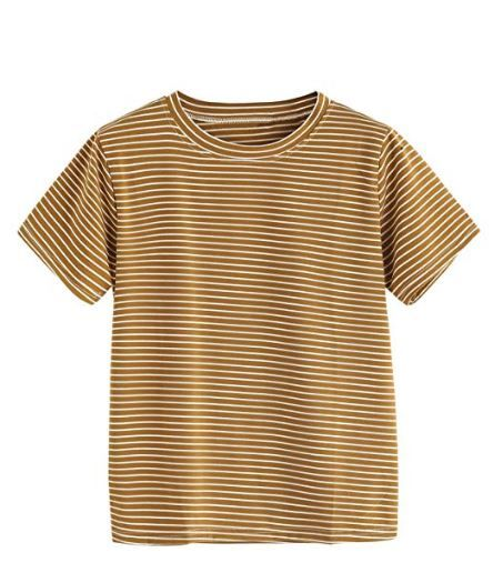 Brown Striped Shirt