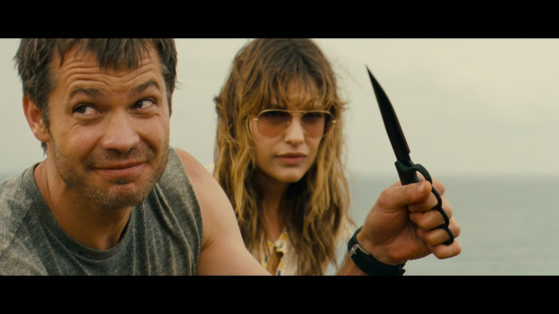 Timothy Olyphant and Milla Jovovich in 'A Perfect Getaway'