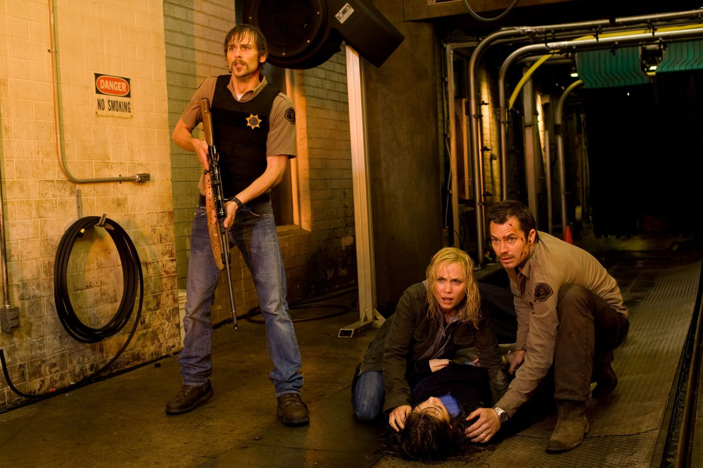 Joe Anderson, Radha Mitchell, and Timothy Olyphant in 'The Crazies'
