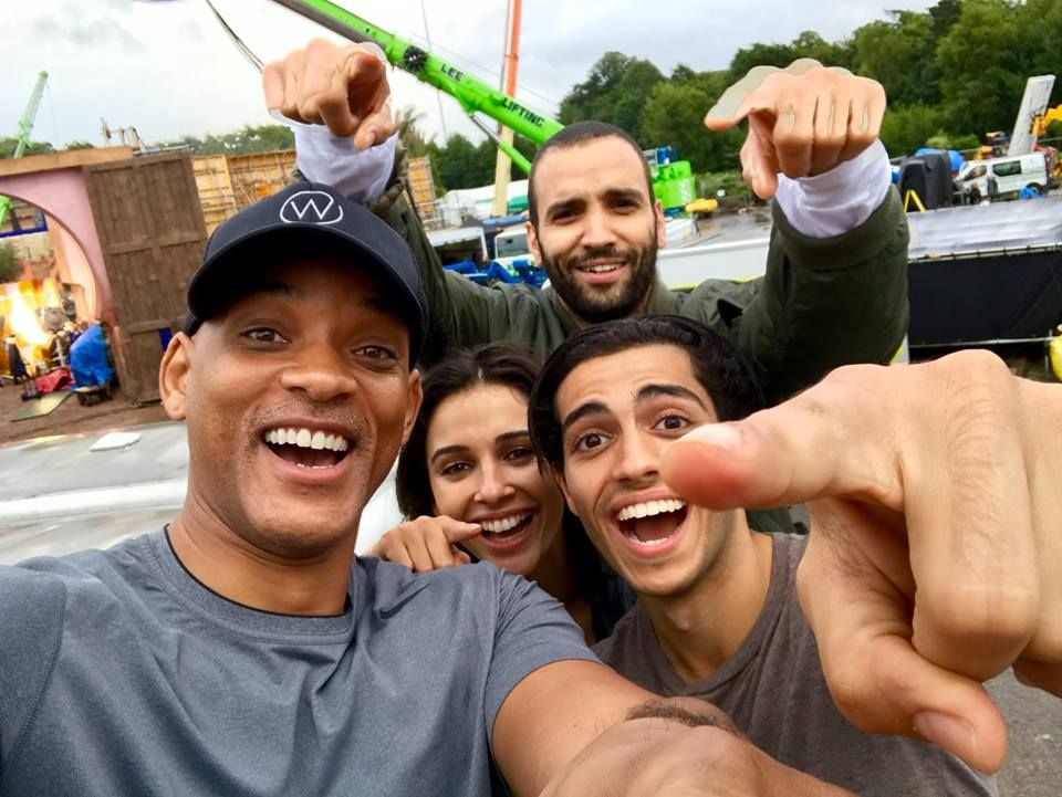 Will Smith on set of Aladdin