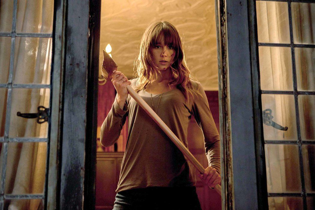 Sharni Vinson as the axe-wielding Erin in 'You're Next'