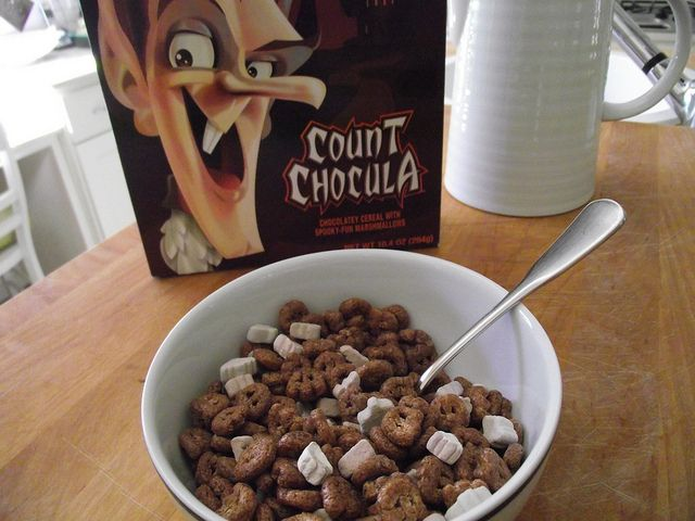 Count Chocula cereal in bowl