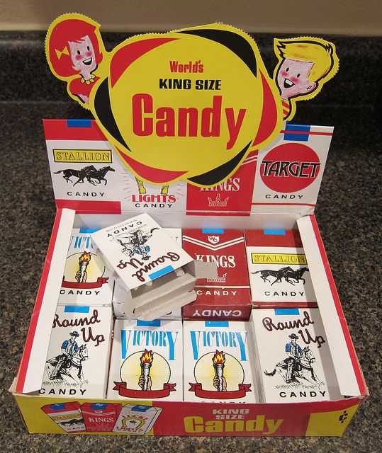 box of candy cigarettes