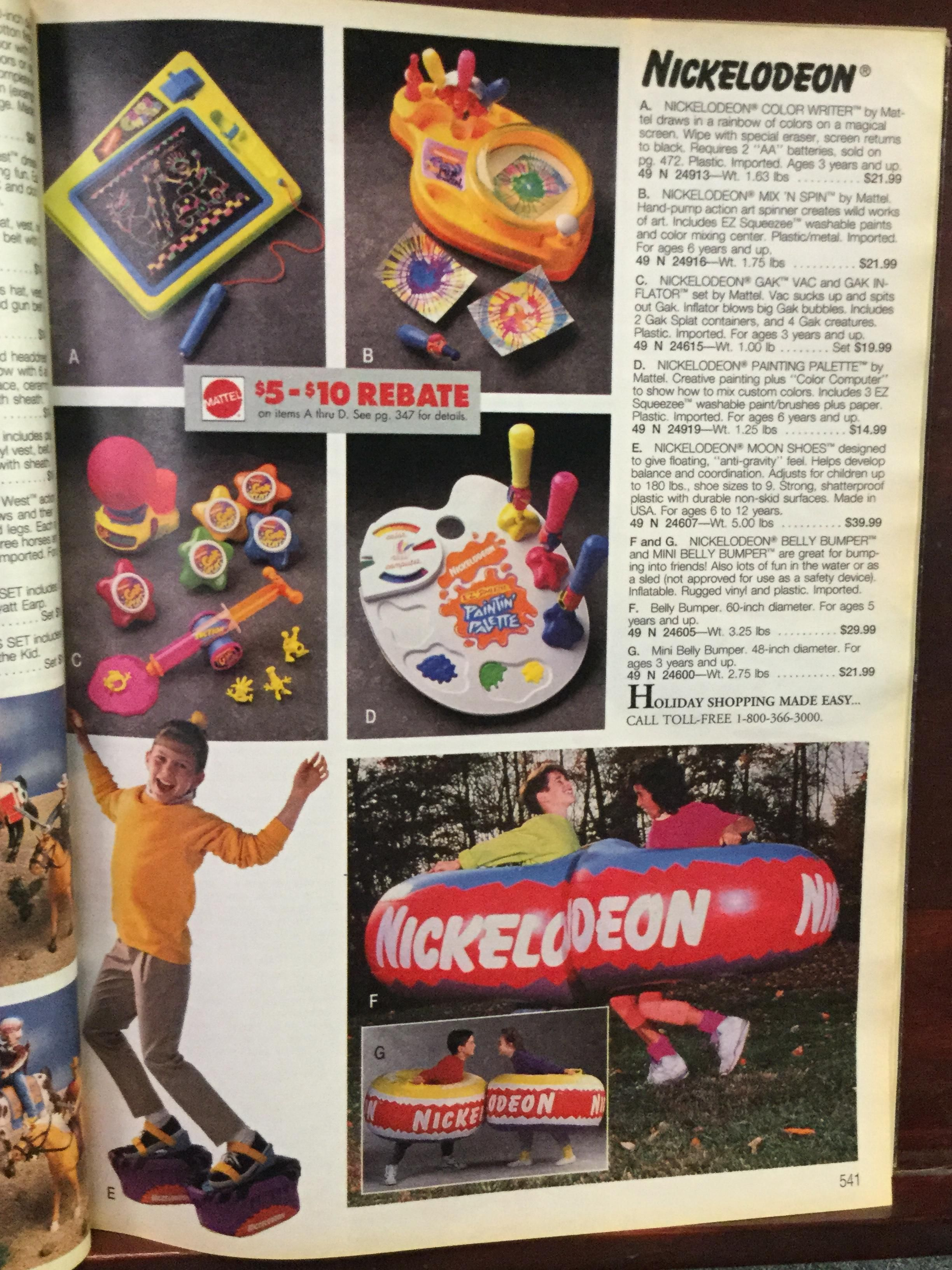 Sears Wish Book Nickelodeon Toys