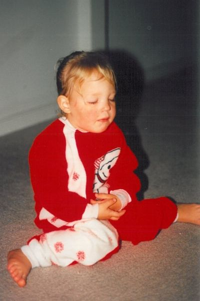 90s kid in PJs sleeping