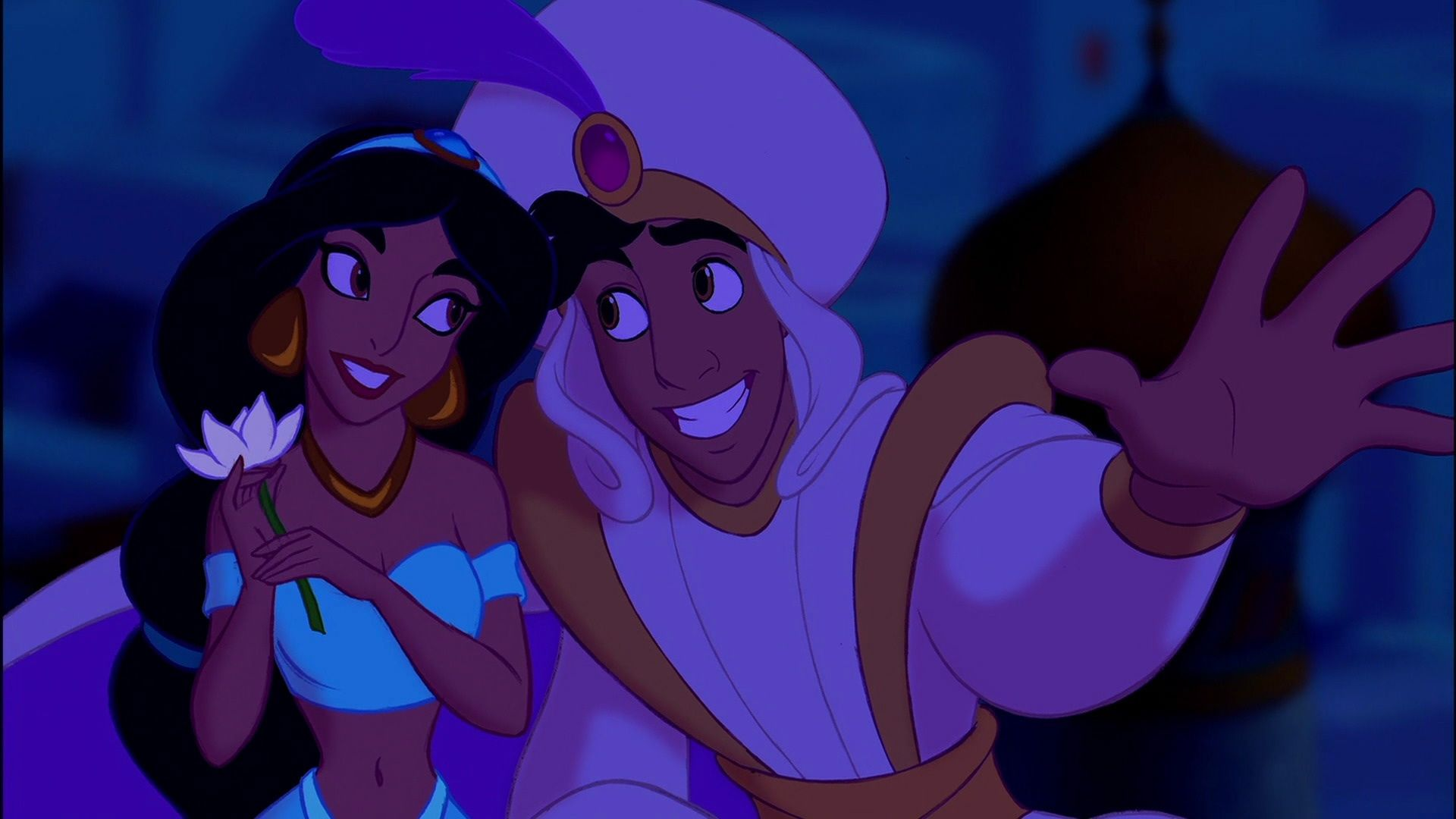 Aladdin and Jasmine Magic Carpet Ride