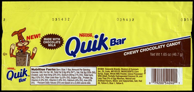 Nestle Quik Bar wrapper