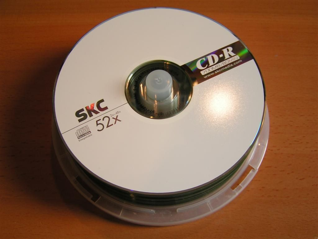 CD-R blank disks spindle