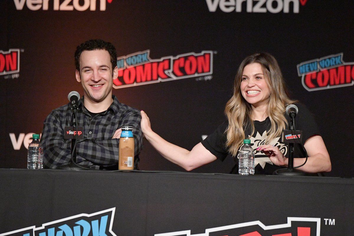 Danielle Fishel and Ben Savage NYCC