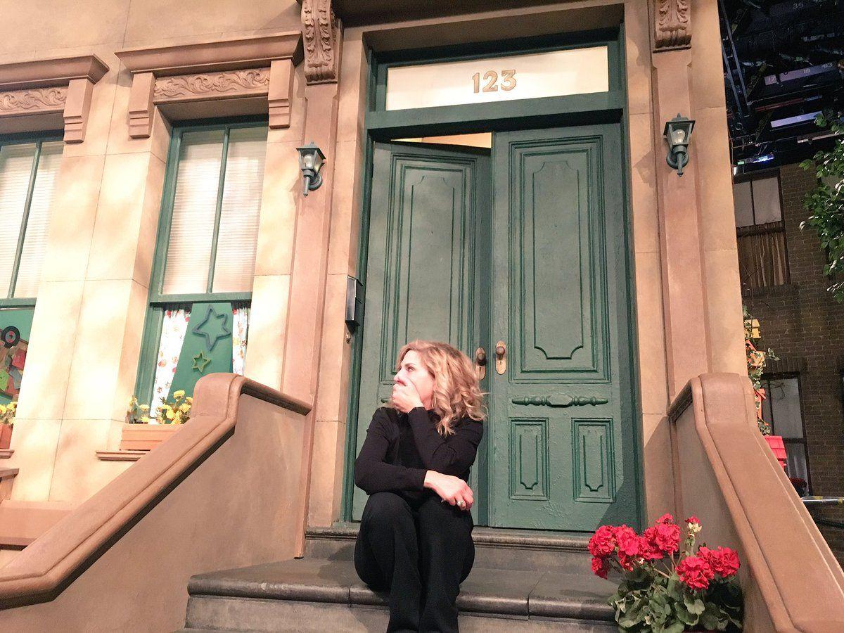 Maddie Cunninham mom at Sesame Street