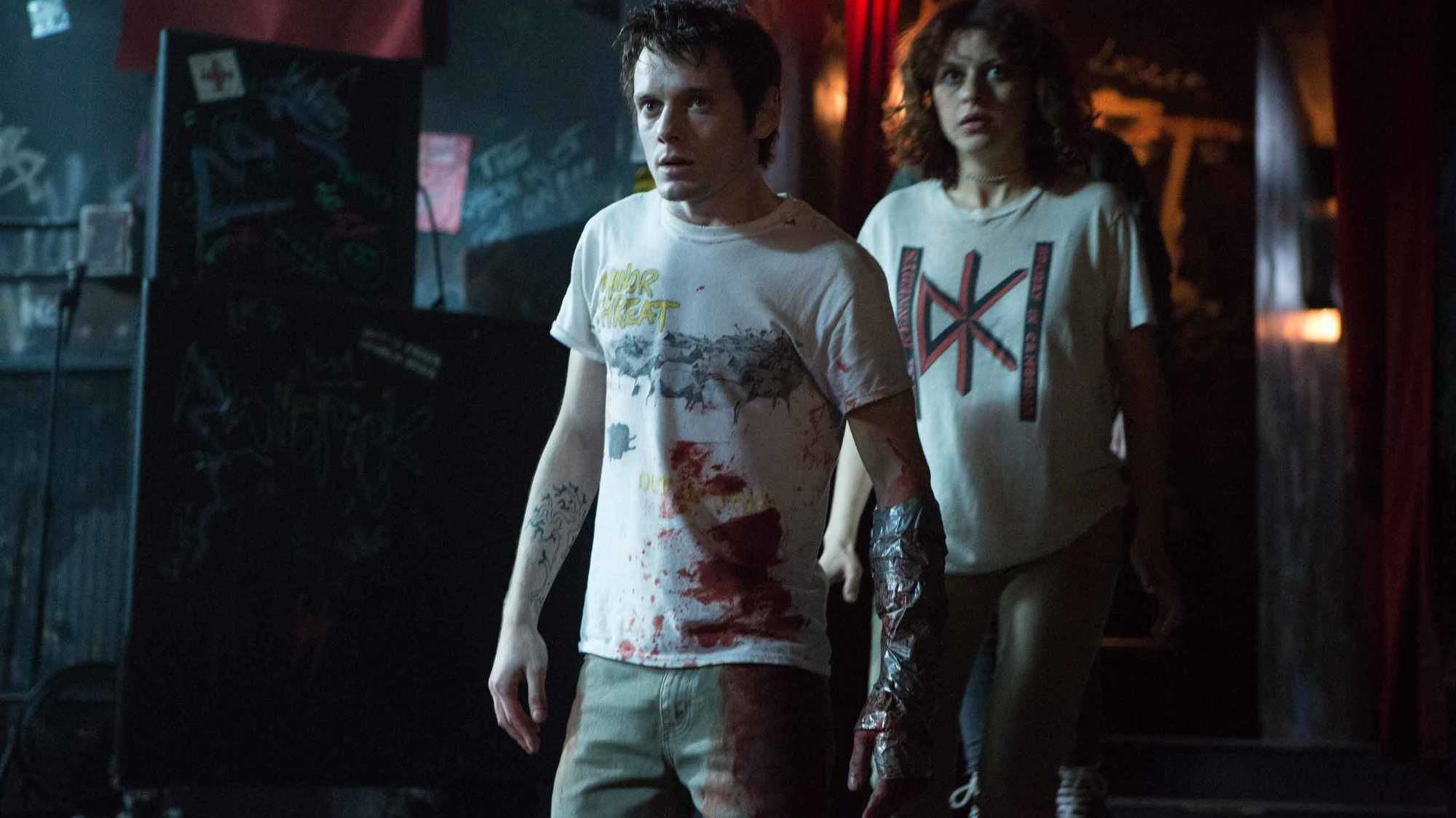 Anton Yelchin and Alia Shawkat in 'Green Room'