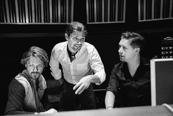 Hanson in recording studio