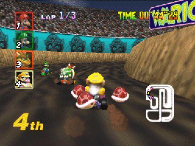 Wario Mario Kart 64