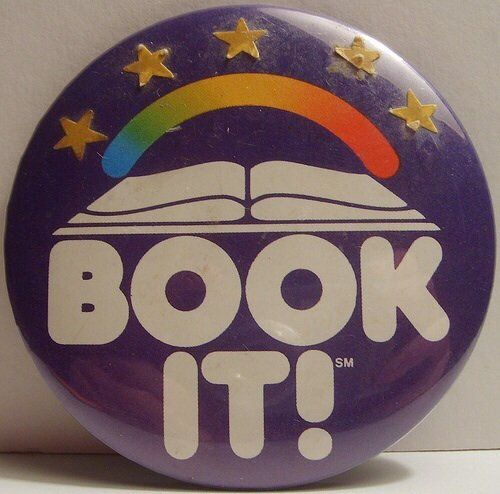 A Book It button from the 1980s