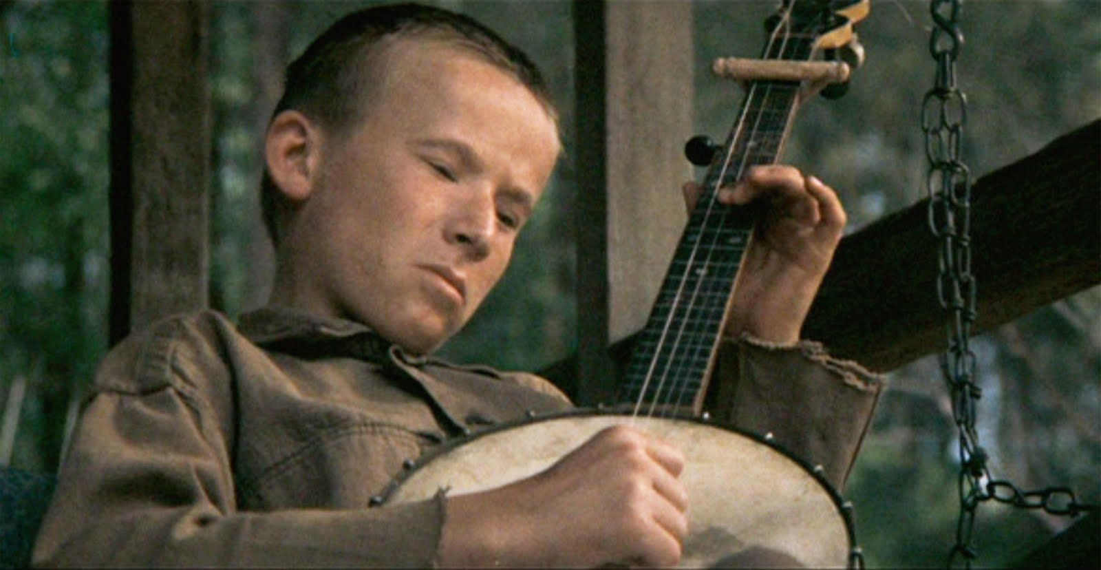 Billy Redden as Lonnie, playing his banjo in 'Deliverance'