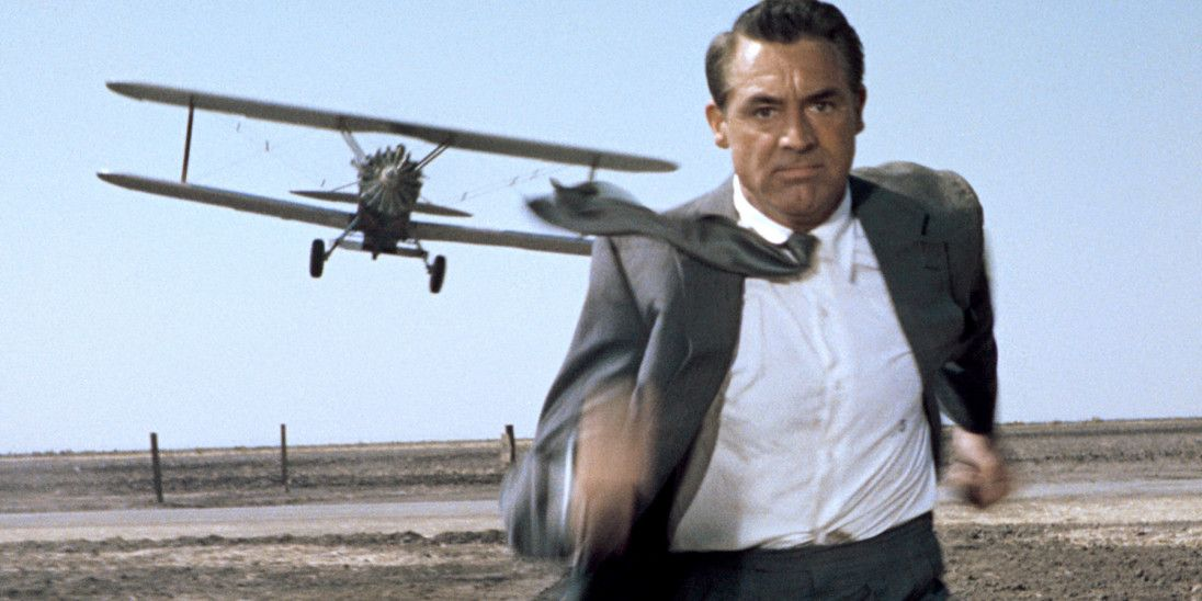 Gregory Peck runs for his life in 'North by Northwest'